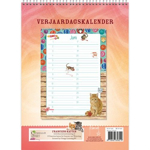 Franciens Katten Best Friends Verjaardagskalender