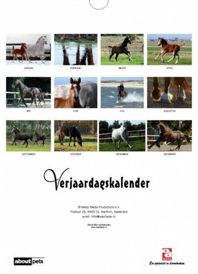 Paarden Verjaardagskalender